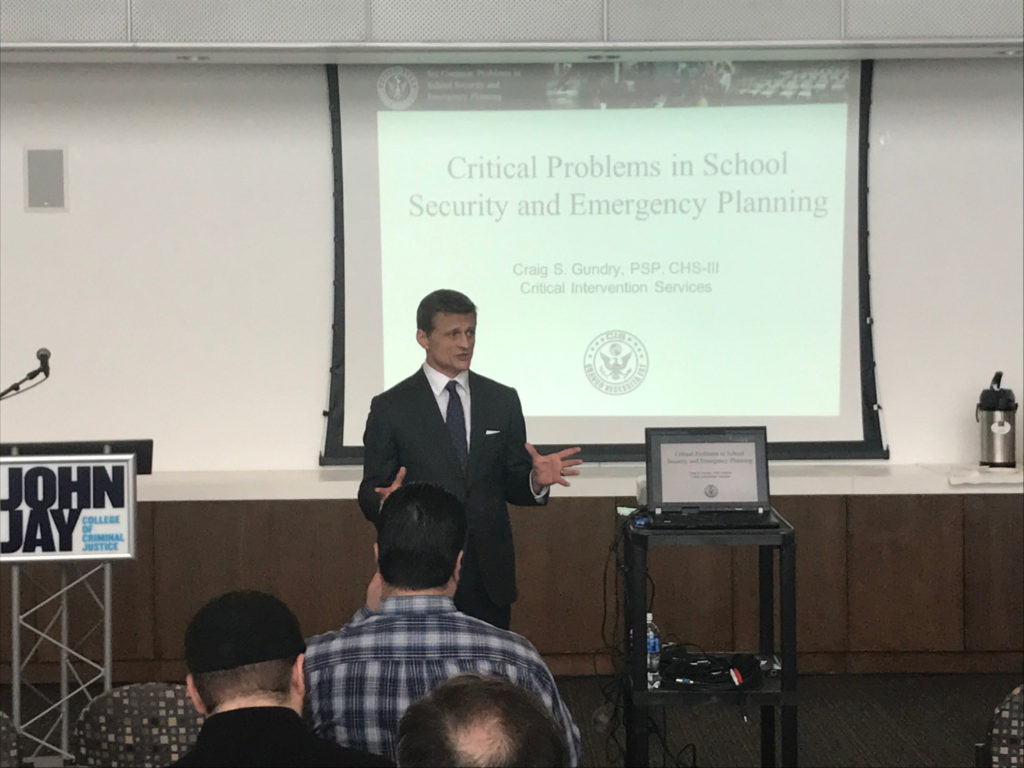 Craig Gundry John Jay College School Security Summit